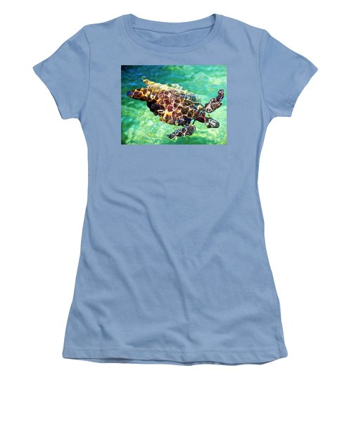 Women's T-Shirt (Junior Cut) featuring the photograph Refractions - Nature's Abstract by David Lawson