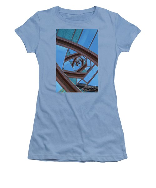 Women's T-Shirt (Junior Cut) featuring the photograph Revolving Blues. by Clare Bambers