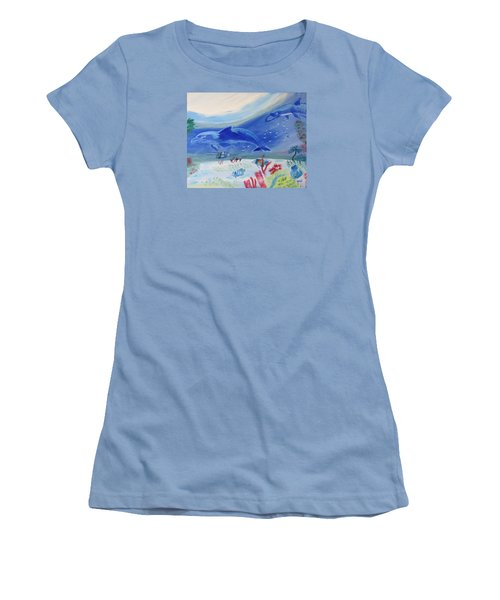 Rhythm Of The Sea Women's T-Shirt (Athletic Fit)