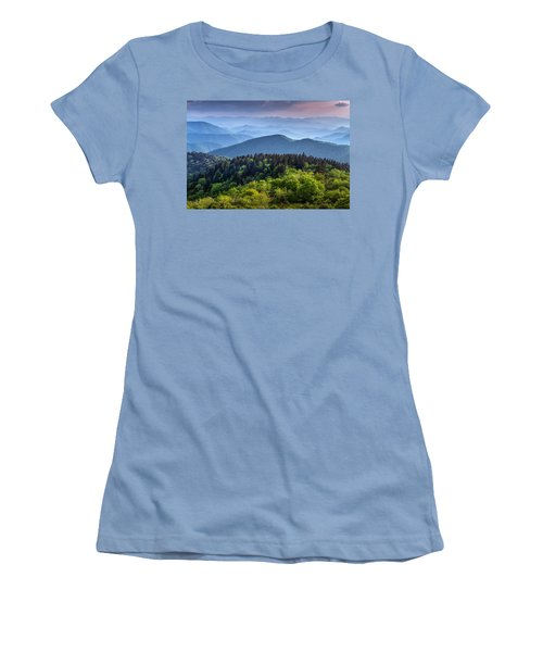 Ridges At Sunset Women's T-Shirt (Athletic Fit)