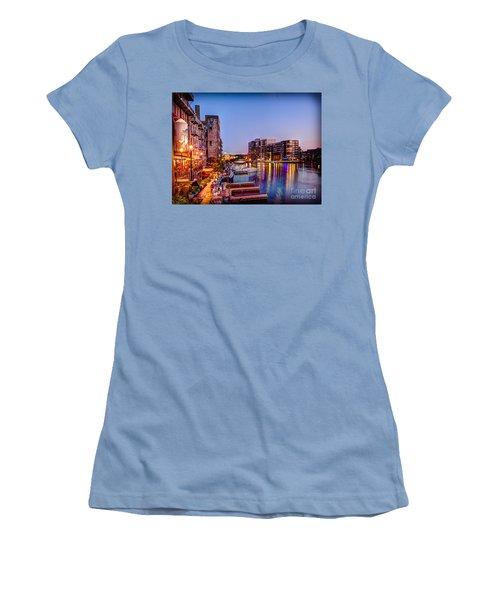 Riverwalk At Dusk Women's T-Shirt (Athletic Fit)