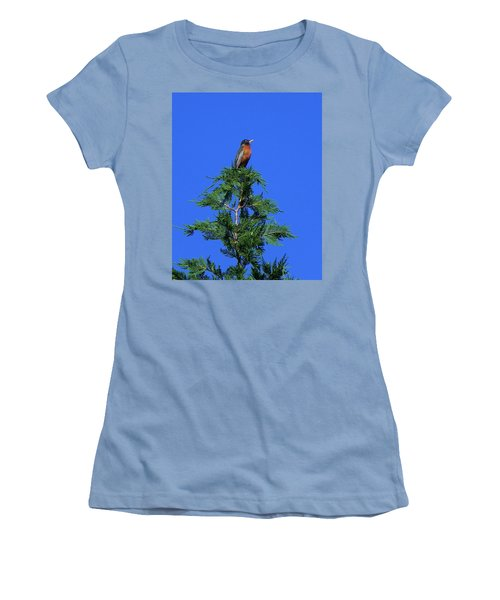 Robin Christmas Tree Topper Women's T-Shirt (Athletic Fit)