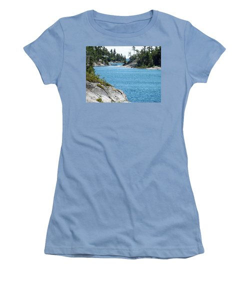 Rocks And Water Paradise Women's T-Shirt (Junior Cut) by Brenda Brown