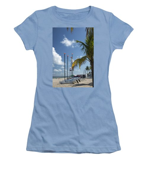 Row Of Sailboats Women's T-Shirt (Athletic Fit)