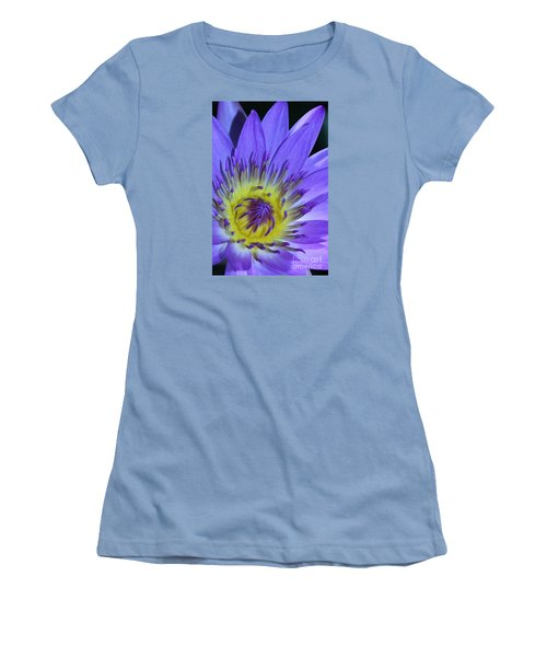 Royal Purple Water Lily #11 Women's T-Shirt (Athletic Fit)