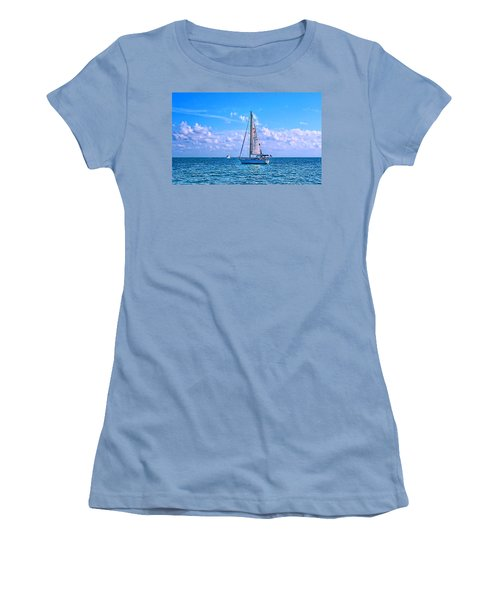 Sailing Off Of Key Largo Women's T-Shirt (Athletic Fit)