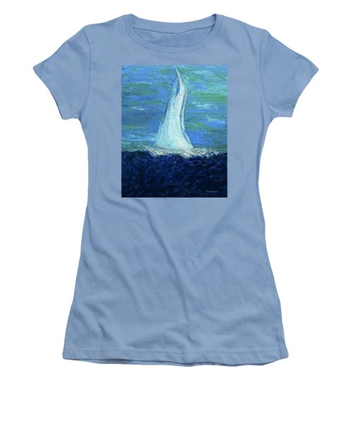 Sailing On The Blue Women's T-Shirt (Junior Cut) by Dick Bourgault