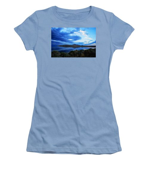 Salt Lake Antelope Island Women's T-Shirt (Junior Cut) by Matt Harang