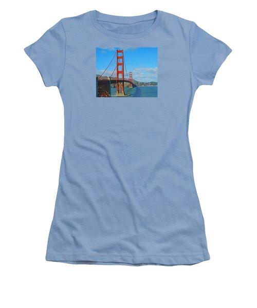 San Francisco's Golden Gate Bridge Women's T-Shirt (Junior Cut) by Emmy Marie Vickers