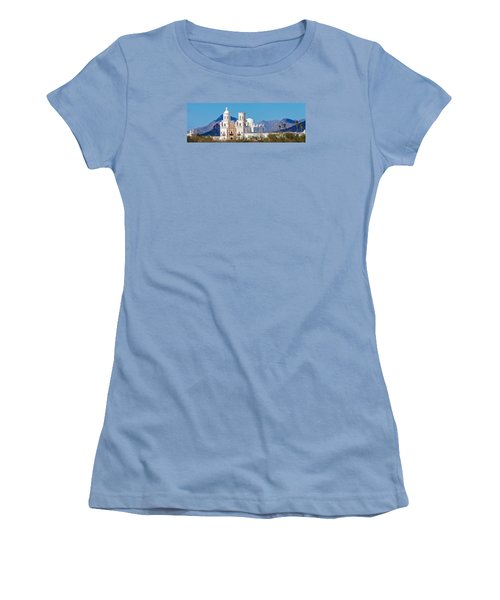San Xavier Del Bac Mission Women's T-Shirt (Junior Cut) by Ed Gleichman