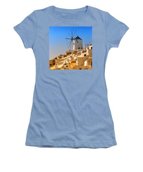 Santorini Windmill 05 Women's T-Shirt (Athletic Fit)