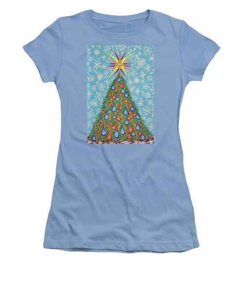 Sapin Noel Women's T-Shirt (Junior Cut) by Robert SORENSEN