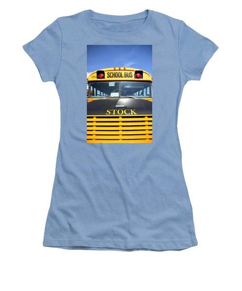 School Bus Women's T-Shirt (Junior Cut) by Valentino Visentini