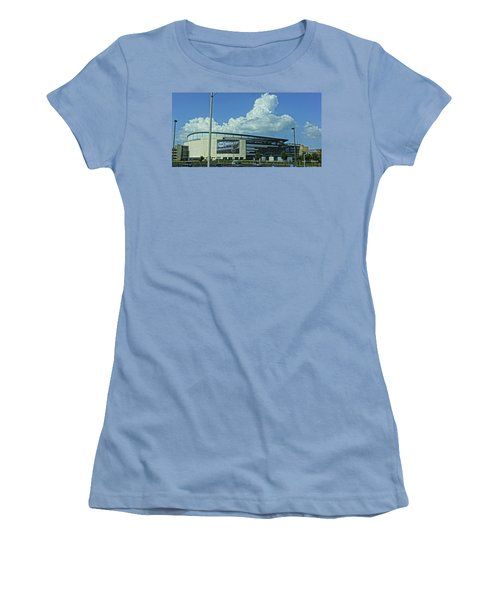 Scottrade Center Home Of The St Louis Blues Women's T-Shirt (Junior Cut) by Greg Kluempers