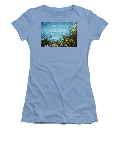 Sea Shore 1 Women's T-Shirt (Junior Cut) by David Lane