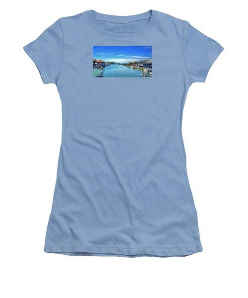 Women's T-Shirt (Junior Cut) featuring the photograph Shem Creek by Kathy Baccari