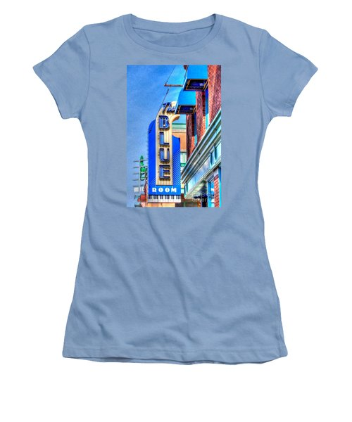 Sign - The Blue Room - Jazz District Women's T-Shirt (Athletic Fit)