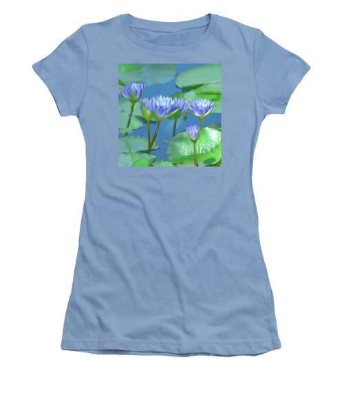 Silken Lilies Women's T-Shirt (Junior Cut) by Holly Kempe
