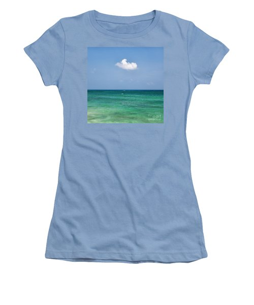 Single Cloud Over The Caribbean Women's T-Shirt (Athletic Fit)