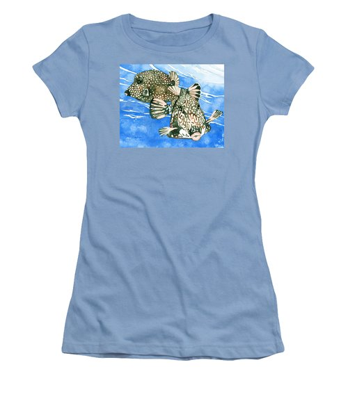 Smooth Trunkfish Pair Women's T-Shirt (Athletic Fit)