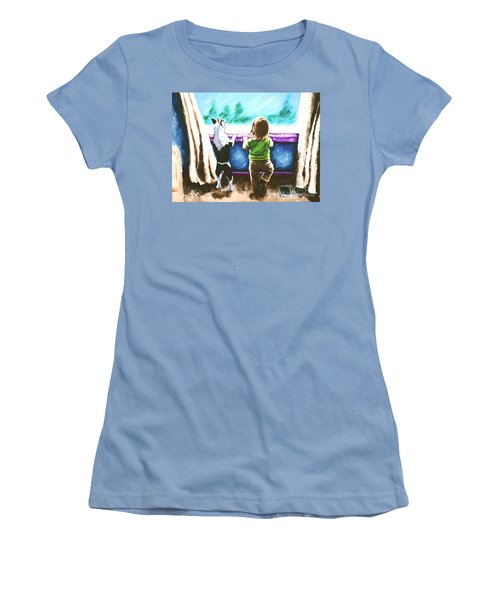 Waiting For Daddy Women's T-Shirt (Junior Cut) by Jackie Carpenter