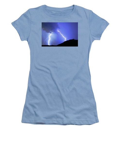 Spectacular Double Lightning Strike Women's T-Shirt (Athletic Fit)