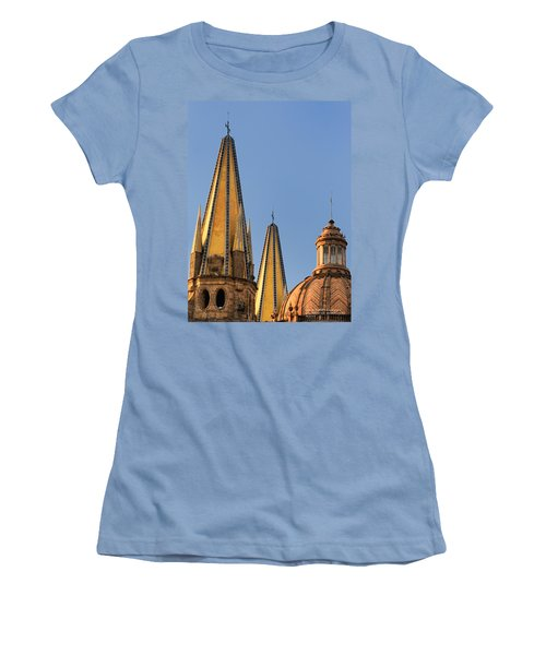 Spires And Dome - Cathedral Of Guadalajara Mexico Women's T-Shirt (Junior Cut) by David Perry Lawrence