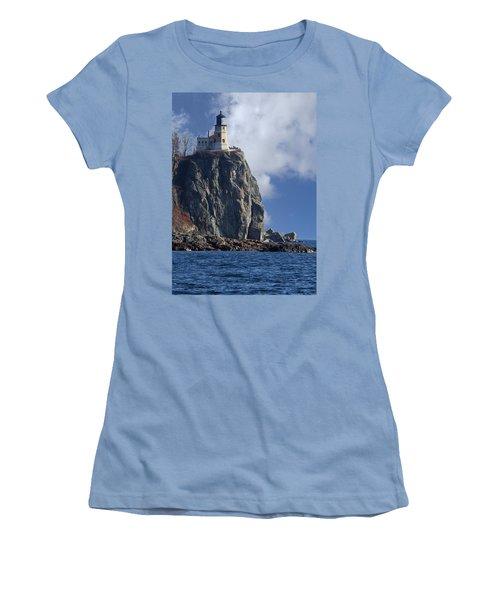Split Rock Lighthouse Women's T-Shirt (Athletic Fit)