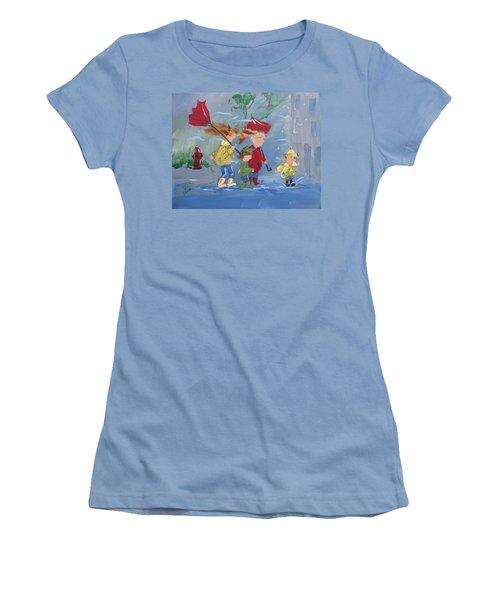 Spring In Our Step Women's T-Shirt (Junior Cut) by Terri Einer