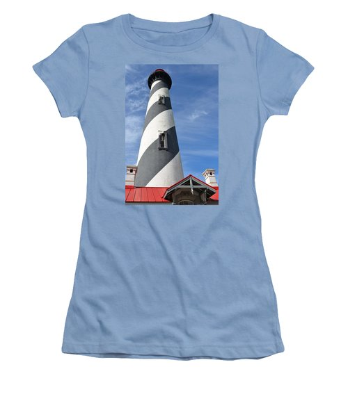 St. Augustine Lighthouse Women's T-Shirt (Junior Cut) by Richard Bryce and Family