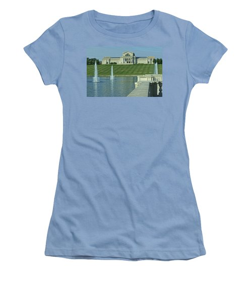 St Louis Art Museum And Grand Basin Women's T-Shirt (Athletic Fit)