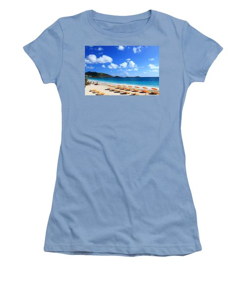 St. Maarten Calm Sea Women's T-Shirt (Junior Cut) by Catie Canetti