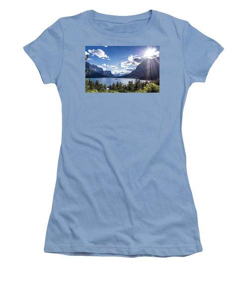 St. Mary Lake Women's T-Shirt (Junior Cut) by Aaron Aldrich