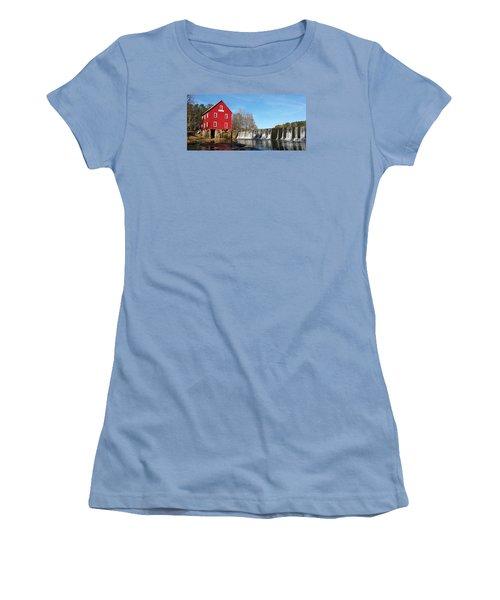 Women's T-Shirt (Junior Cut) featuring the photograph Starr's Mill In Senioa Georgia by Donna Brown