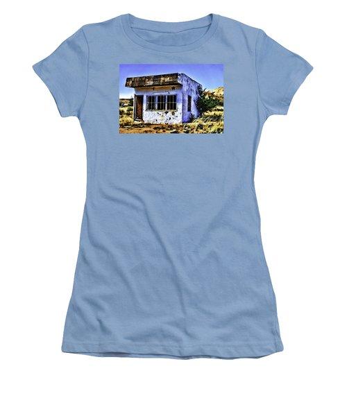 Women's T-Shirt (Junior Cut) featuring the painting Store by Muhie Kanawati