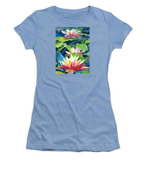 Styalized Lily Pads 3 Women's T-Shirt (Junior Cut) by Kathy Braud