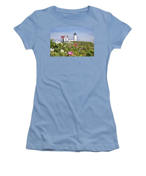 Summer At Nubble Light Women's T-Shirt (Athletic Fit)