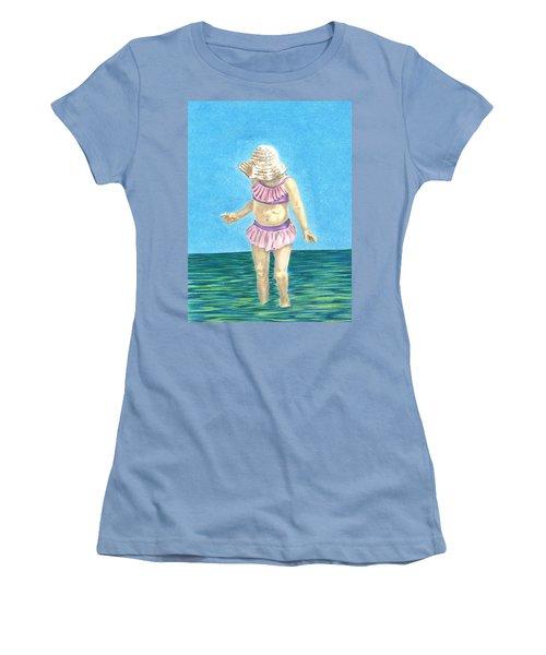 Summer Women's T-Shirt (Junior Cut) by Troy Levesque