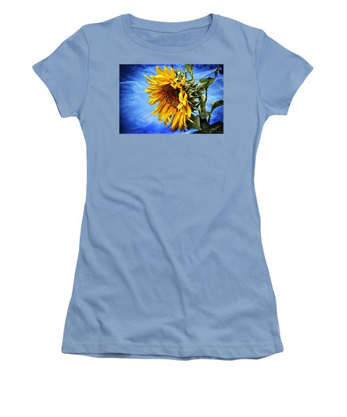 Women's T-Shirt (Junior Cut) featuring the photograph Sunflower Fantasy by Barbara Chichester