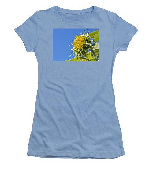 Sunflower Women's T-Shirt (Junior Cut) by Linda Bianic