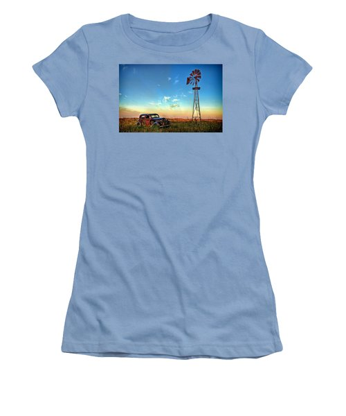 Women's T-Shirt (Junior Cut) featuring the photograph Sunrise On The Farm by Ken Smith