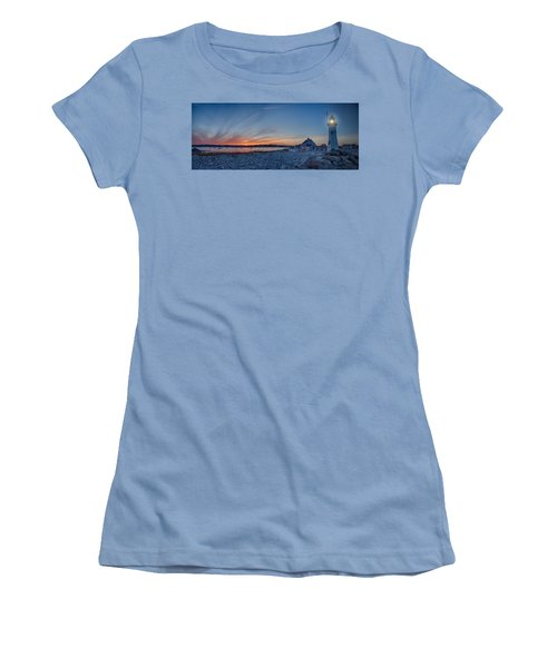 Sunset At Scituate Light Women's T-Shirt (Athletic Fit)