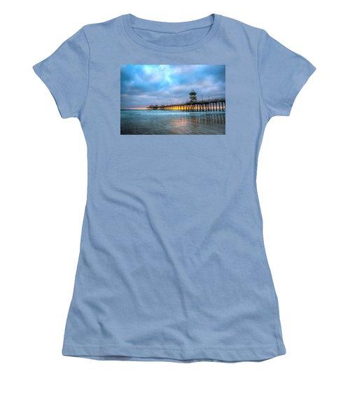 Sunset Beneath The Pier Women's T-Shirt (Athletic Fit)