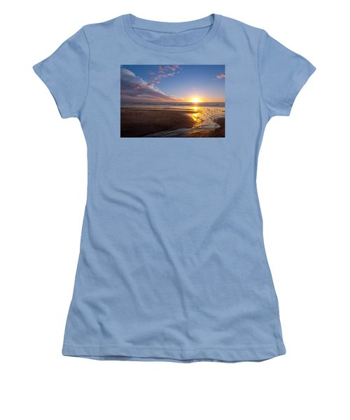 Sunset On The Beach At Carlsbad. Women's T-Shirt (Junior Cut) by Melinda Fawver