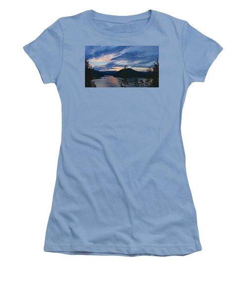 Sunset Pano - Watauga Lake Women's T-Shirt (Athletic Fit)