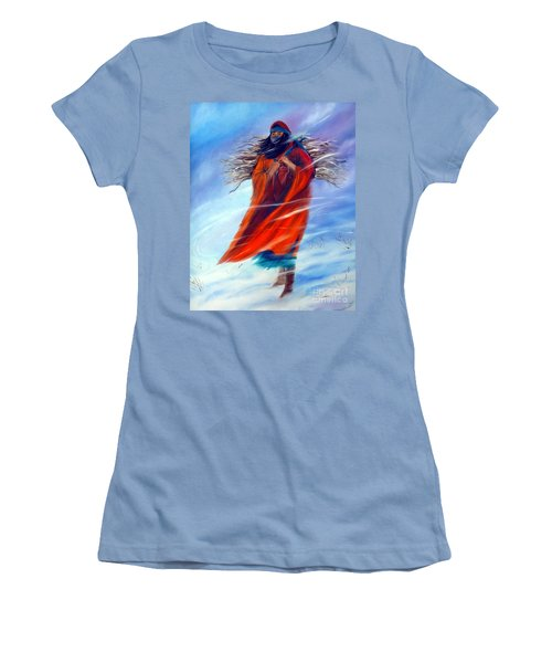 Women's T-Shirt (Junior Cut) featuring the painting Surviving Another Day by Jackie Carpenter
