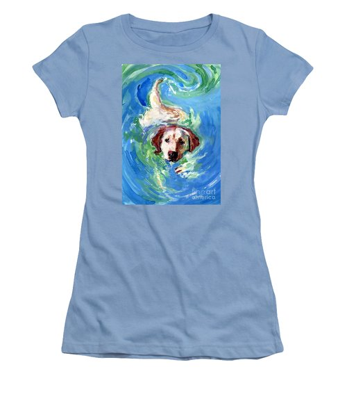 Swirl Pool Women's T-Shirt (Junior Cut) by Molly Poole