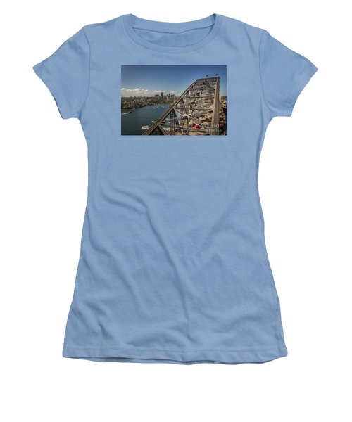 Sydney Harbour Bridge Women's T-Shirt (Junior Cut) by Jola Martysz