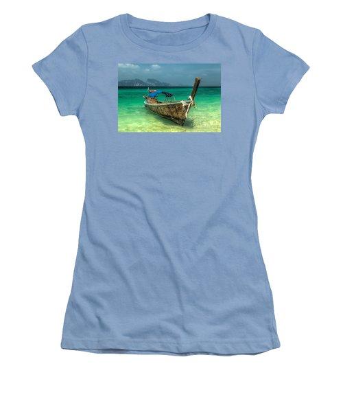 Thai Boat  Women's T-Shirt (Junior Cut) by Adrian Evans