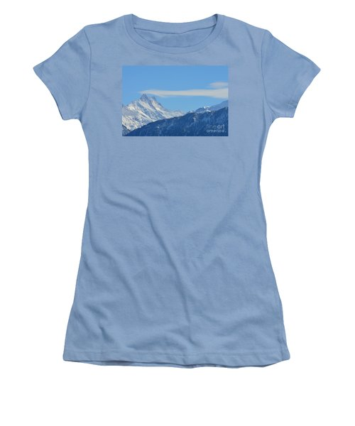 The Alps In Azure Women's T-Shirt (Athletic Fit)